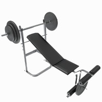 Gym Tools - Bench Weight (plates) starter kit, UV unwrapped