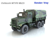 3d model oshkosh mtvr mk23