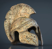 3d hd greek helmet model