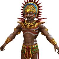 3d model mayan priest