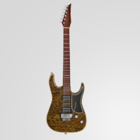 3d model electric guitar