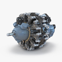 radial engine pratt whitney 3d max