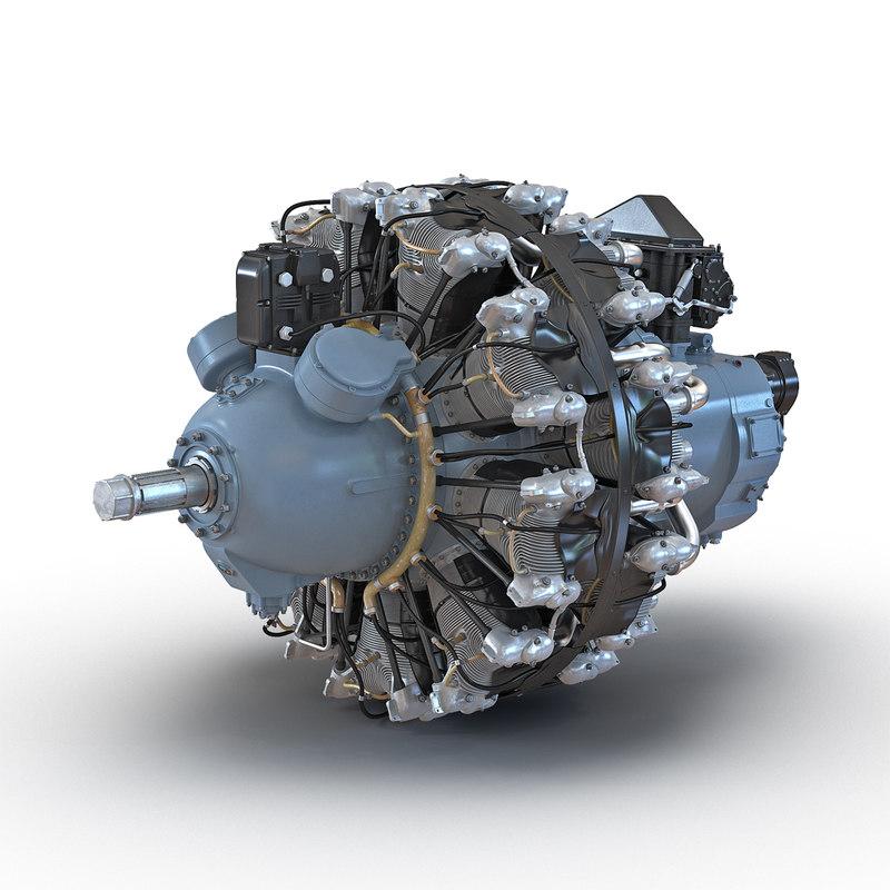 Radial Engine Pratt and Whitney R 2800 3d model 02.jpg