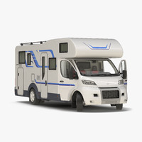 3d tag axle motorhome rigged model