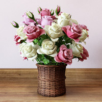 modeled basket roses max