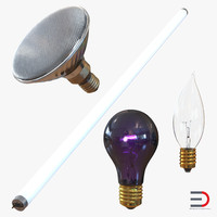 3d light bulbs 2 model