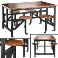3d space table bar stools model