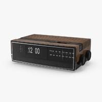 3d vintage clock radio model