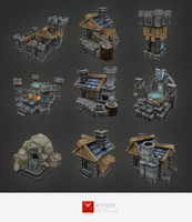 3d model human rts buildings