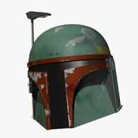 boba fett helmet 3d max