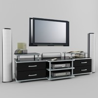 3d tv entertainment center wall
