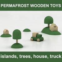 3d model wooden toys set 4