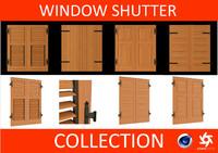 3d window shutters - model