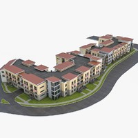 condominium residential complex 3d 3ds