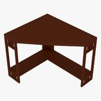 corner table 3d obj