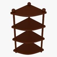 3d corner table model