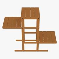 3d model corner table