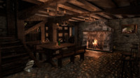 3d medieval tavern city model