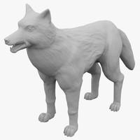 3d sculpture wolf