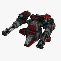 obj sci-fi mini gun