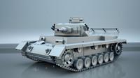 panzerkampfwagen iii german tank 3d max