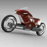 3d futuristic racing bike