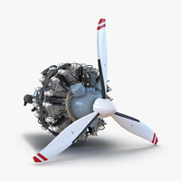 pratt whitney r 2800 3d model