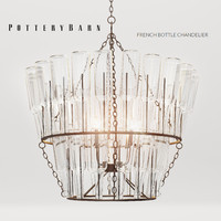 french bottle chandelier 3d max