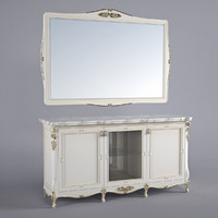 buffet mirror 3d obj