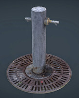fountain 4 3d obj