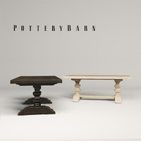 potterybarn banks extending dining table 3d max
