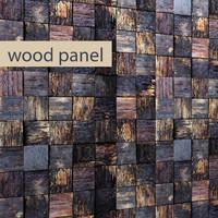 3d wood panel model