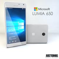 3d microsoft lumia 650