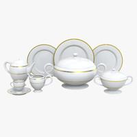 dinnerware set 3d model