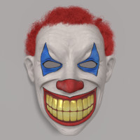 clown mask 3d blend