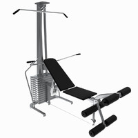 Gym Tools - Pectoral and leg bench, UV unwrapped
