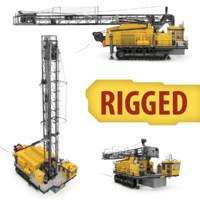 3d max drilling rig blasthole
