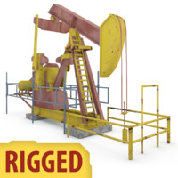 oil pumping 3d model