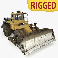 Heavy Industrial Wheel Dozer Rigged