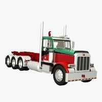 378 hook lift truck 3d model