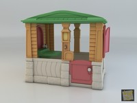 3d max neat tidy cottage casinha
