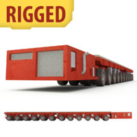 rigged self-propelled modular transporter 3d 3ds