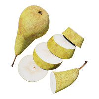 pear sliced 3d max