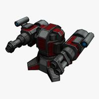 3d model rocket launcher sci-fi