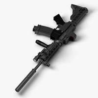 rifle colt m4 c4d