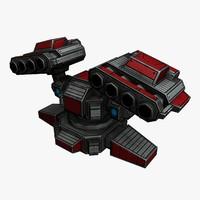rocket launcher sci-fi 3d model