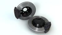 brakes disc caliper 3d c4d