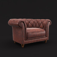3d chesterfield armchair