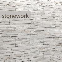3d stone slate white