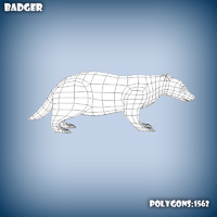 3d model base mesh badger